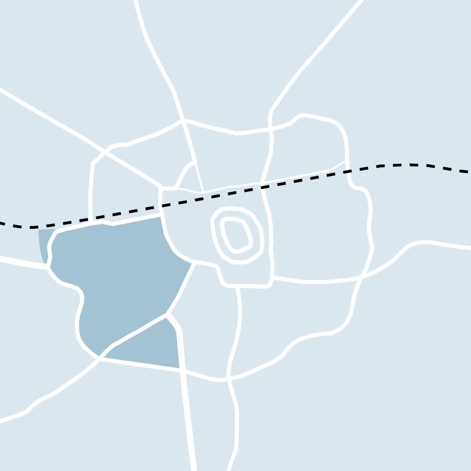 Kaart Enschede wijk Horstlanden Veldkamp